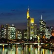 Frankfurt am Main, Germany in the twilight — Stock Photo #9395378