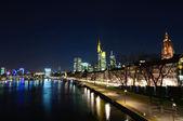 Frankfurt am Main, Germany at night — Stock Photo