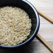 Stock Photo: Rice in Balck Bowl