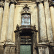 Stock Photo: Facade of the Dominican church in the old part of Lviv