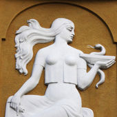Goddess Gig (in ancient Greek mythology she gives to 's he — Stock Photo