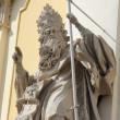 Statue on the cathedral Church in Lviv — Stock Photo #8315623