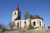 The ruins of the 16th century church — Stock Photo