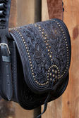 Riveted Leather Bag — Stock Photo