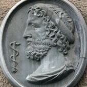 Greek God Asclepius — Stock Photo