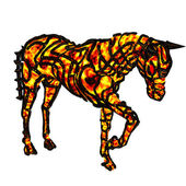 Flaming horse — Stock Photo