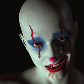 The evil clown — Stock Photo