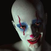Der böse clown — Stockfoto
