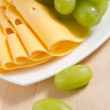 Grape and cheese — Stock Photo