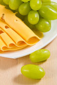 Grape and cheese — Foto Stock