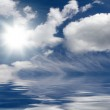 Cloudy sky over the sea — Stock Photo