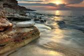 Beautiful rocky sea beach — Stock Photo