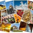 Thailand postcard montage — Stock Photo