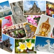Thailand postcard montage - Stock Photo