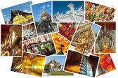 Thailand postcard montage — Stock Photo