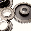 Gears on plain background — Stock Photo