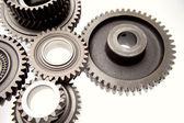Gears on plain background — Stock Photo