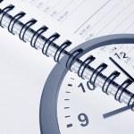 Clock and diary — Stock Photo #8581272