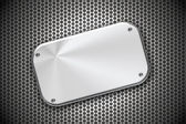 Steel plate on grill pattern — Stock Photo