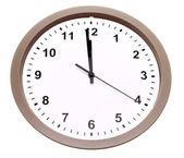 Clock isolated over white background — Stock Photo