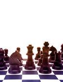 Peças de xadrez a bordo — Fotografia Stock