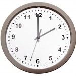 orologio isolato su sfondo bianco — Foto Stock