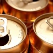 Stock Photo: Drink cans