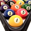Closeup of pool balls — Stock Photo #9106235