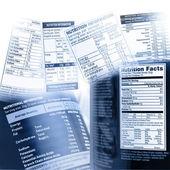 Informazioni nutrizionali — Foto Stock
