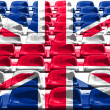 England Flag Pattern on Seat — Stock Photo #10492522