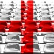England Flag Pattern on Seat — Stock Photo