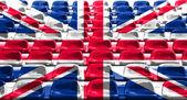 England Flag Pattern on Seat — Stock Photo