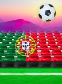 Portugal Flag Pattern on Seat — Stock Photo