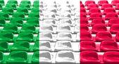 Italy Flag Pattern on Seat — Stock Photo