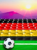 Germany Flag Pattern on Seat — Stock Photo