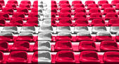 Denmark Flag Pattern on Seat — Stock Photo