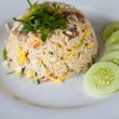 Thai traditional fired rice with vegetable — Stock Photo
