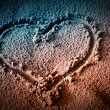 Heart on Sand — Stock Photo #8789715