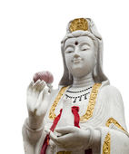 White Scultrue of Kuan Yin image — Stock Photo