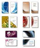 Business Card Templates. Vector Eps10. — Stock Vector