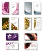 Modelos de cartão de visita. vector eps10. — Vetorial Stock