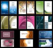 шаблоны визитных карточек. векторный дизайн. — Cтоковый вектор