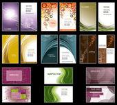 Modelos de cartão de visita. vector design. — Vetorial Stock