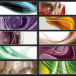 Stock Vector: Abstract Vector Banners.