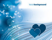 Abstract Vector Background with Hearts. Eps10 Format. — Vecteur