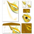 Corporate Identity Template Vector - letterhead, business and gift cards, c - Stock Vector