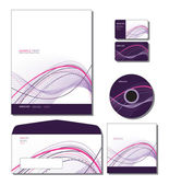 Corporate Identity Template Vector - letterhead, business and gift cards, c — Vettoriale Stock