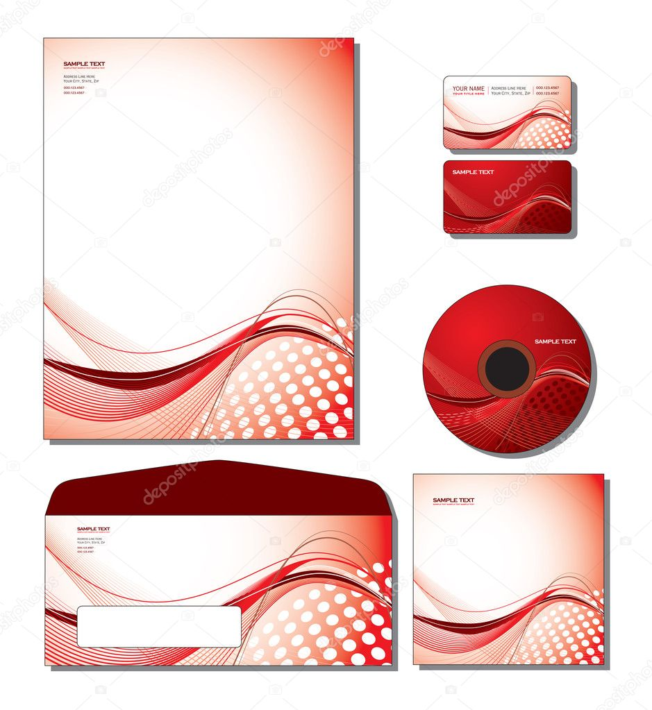 Corporate Identity Template Vector - letterhead, business and gift cards, cd, cd cover, envelope. — Stock Vector #9121523