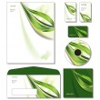 Corporate Identity Template Vector - letterhead, bus. and gift cards, cd. — Vektorgrafik