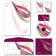 Corporate Identity Template Vector - letterhead, bus. and gift cards, cd. — Stok Vektör